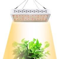 Светодиодный свет для выращивания 1000 Вт полный спектр, солнечный свет 3500 K + 660NM белый свет для выращивания комнатных рассада растений растущ