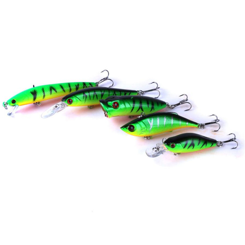 5Pcs Fishing Lures in bait  Kinds of Minnow Fish Bass Tackle Hooks Baits Crankbaits Fishing Accessories tool 2017 New Arrival #2 2016 new14cm 23g lot of 5pcs bass fishing lures crankbaits hooks minnow baits tackle 676