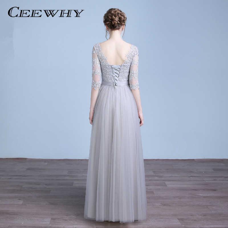 CEEWHY Mãe dos vestidos de Noiva Mulheres Vestido de Renda Robe De Soirée Vestidos de Noite do baile de Finalistas Dresss Longo Abendkleider Mulheres Tule Maxi vestido