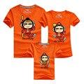 1 UNIDS Mono Impreso T Shirt Trajes A Juego Camisa Corta de Verano de Hombres y Mujeres Bebé Familia Padre Madre Bebé Ropa A Juego DC104