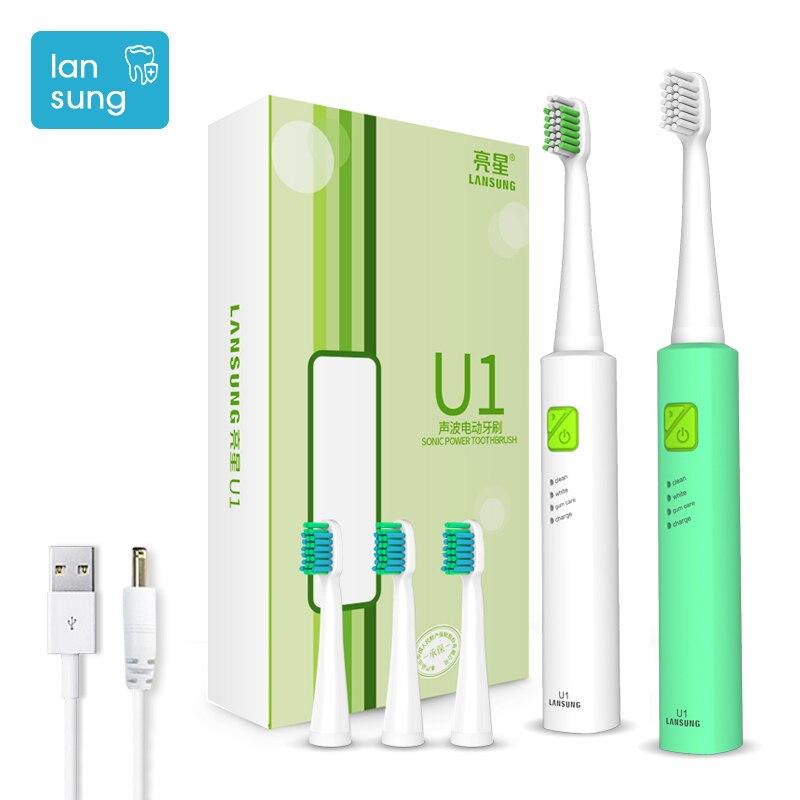 Cepillo de dientes eléctrico Lansung u1 Cepillo de dientes ultrasónico Cepillo de dientes eléctrico Cepillo de dientes higiene oral dental 3