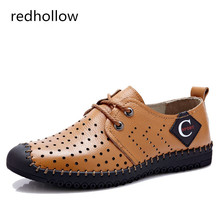 Fashion Men Shoes Real Leather Sandals Summer Beach Casual For Soft Lace up Zapatos Breathable