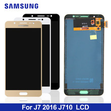 10 ชิ้น/ล็อตสามารถปรับ J710 LCD สำหรับ Samsung Galaxy J7 2016 J710 J710FN J710F J710M J710Y J710H Touch Screen Digitizer assembly(China)