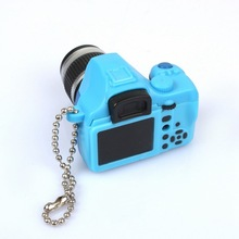 New Style Cute Key Holder Mini Digital Single Lens Reflex DSLR Camera LED Flashlight Keychain Keyring Pendant Gift For Children(China)