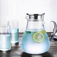 1.9L Heatable Glass Water Pot Tea Carafe Juice Jar Container Beverage Drink Dispenser Explosion proof Water Kettle Pitcher