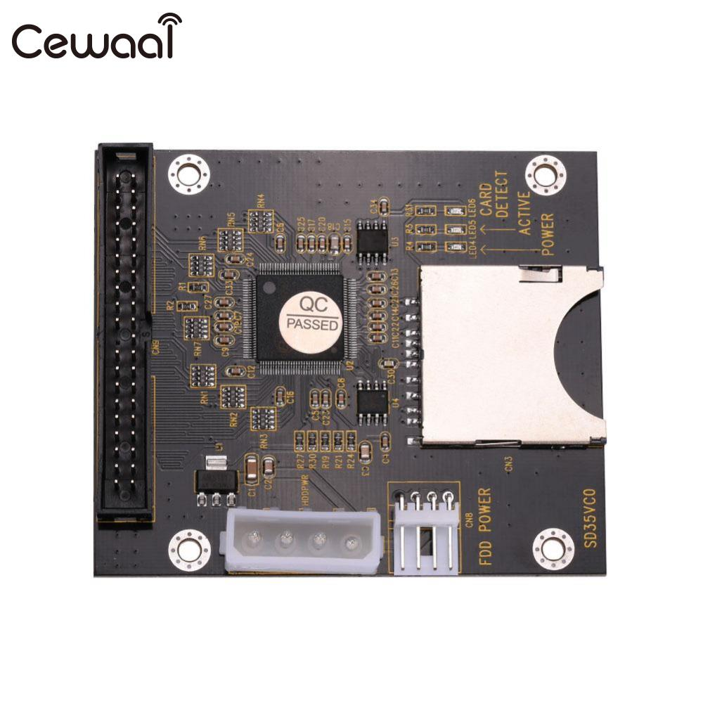 CEWAAL SD 3.5 IDE 40Pin Adapter Card Hard Disk IDE Drive Electronics sd memory card to ide 44 pin hard disk adapter creates a ssd solid state drive