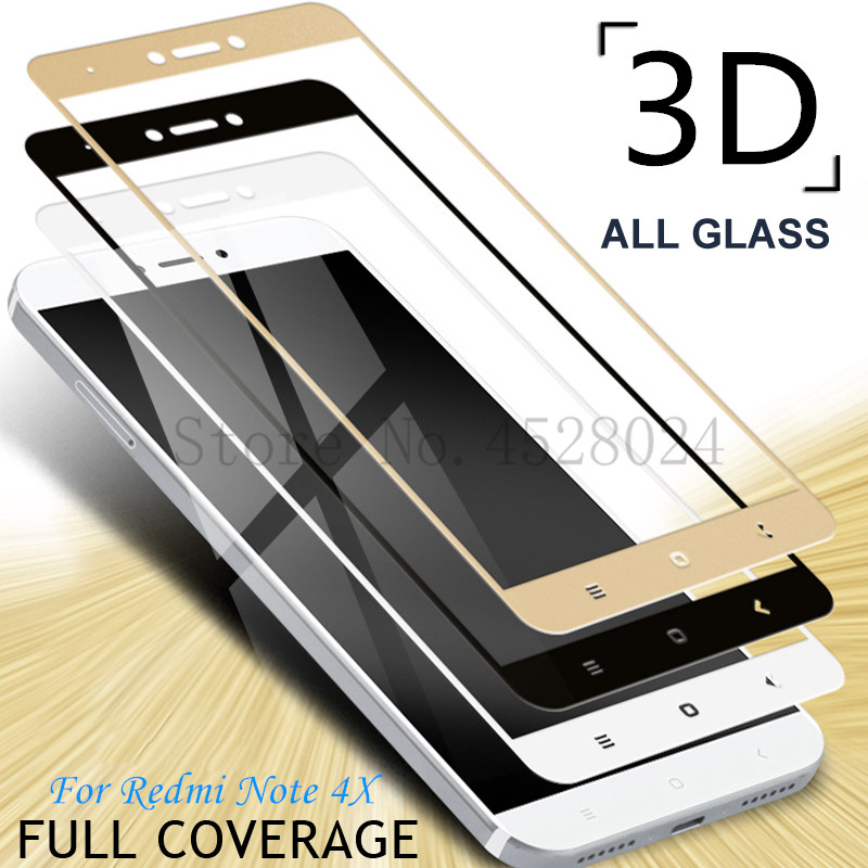 3D Full Cover Tempered Glass For Xiaomi Redmi Note 4 4X Redmi Note 4 Pro Note 4X Global Version Screen Protector Toughened  Film