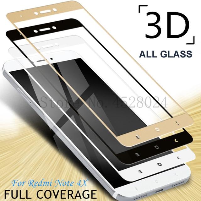 3D מלא כיסוי מזג זכוכית עבור Xiaomi Redmi הערה 4 4X Redmi הערה 4 פרו הערה 4X הגלובלי גרסת מסך מגן משוריינת סרט
