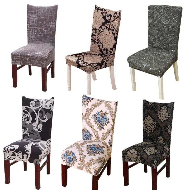 Impression florale Stretch élastique chaise couvre Spandex pour mariage salle à manger bureau Banquet housse de chaise couverture