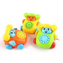 HIINST Random Style Telephone Chain Car Educational Toys Cartoon Smile Phone Developmental Kids Toy Gift Aug14 Drop Shipping