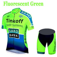 2019 New Tinkoff Mens Cycling Short Sleeve Jersey Shorts Kits Bicycle Riding Shirt Tights Pad Set 15 style