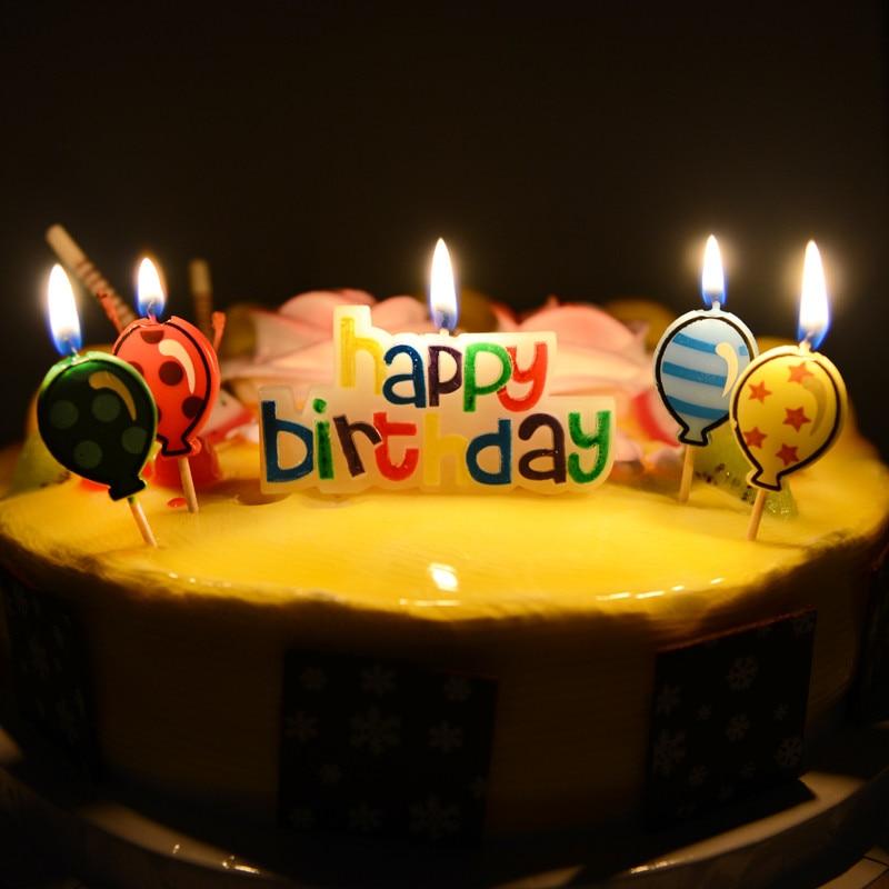 1pcs Happy Birthday Cake Candles Surprise Romantic Ideas Gift Kids