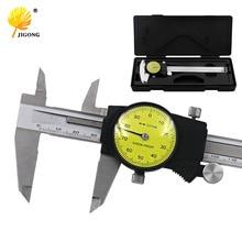 Big sale 6″ 0-150mm/0.01mm Dial Caliper Shock-proof Stainless Steel Vernier Caliper Measurement Gauge Metric Measuring Tool