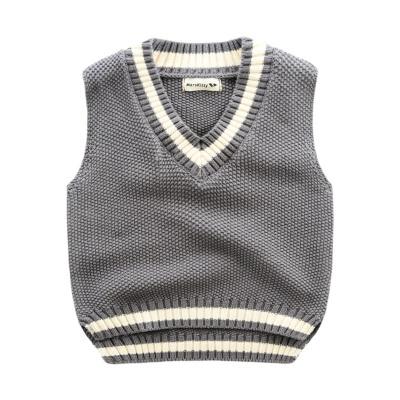 Preppy Style Fall Little Boys V Neck Cotton Striped Sweater Vest ...