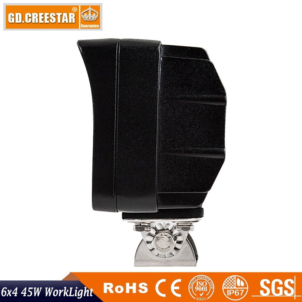 45W Düzbucaqlı 6x4 LED işığında işıqsız yol yol seli - Avtomobil işıqları - Fotoqrafiya 6