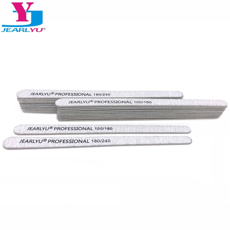 10 Pcs Wooden Nail File 100/180 180/240 Grey Sandpaper Buffer Block Professional Nail Files Pedicure Manicure Polishing Tools