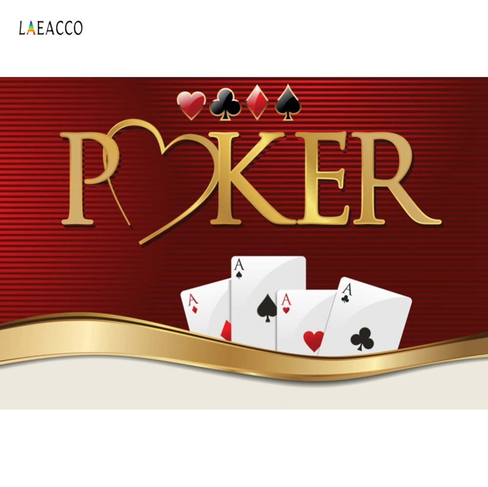 Poker Playing Cards Party Decor Casino Poster Games Baby Portrait Photo Backgrounds Photography Backdrops Photocall Photo Studio(China)