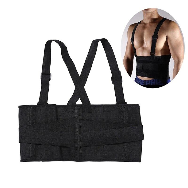 Back Support Brace Shoulder Straps Male Pain Belt Back Corset for Men Heavy Lift Lumbar Support Belt Posture Corrector