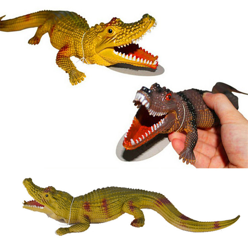 28 см смешно маленькая крокодил игрушка Новинка звук крокодил моделирования модель хитры ...