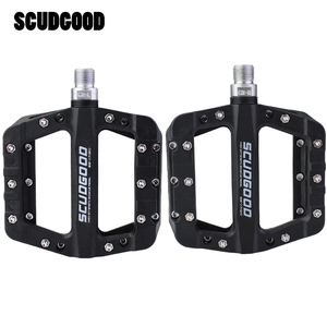 Image 2 - Scudgood自転車ペダルナイロン炭素繊維超軽量ワイドベアリングペダルフラットプラットフォームペダルmtbロードバイクペダル自転車部品