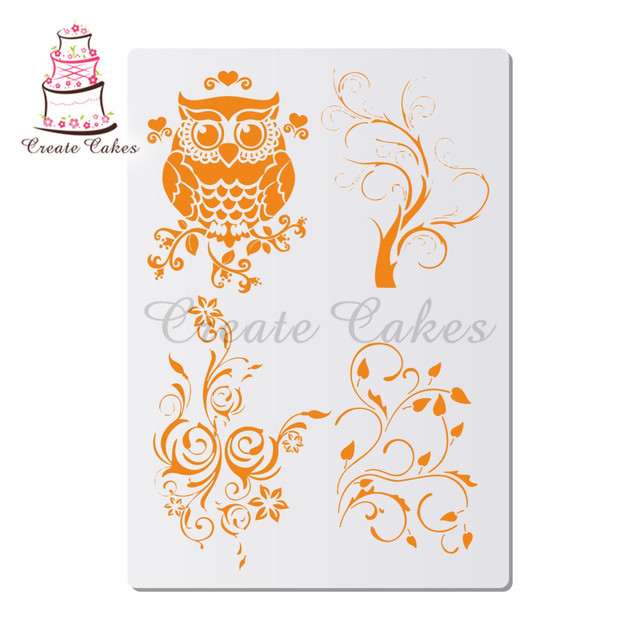 Owl Stencils For Walls Painting Scrapbooking Stamp Album Decorative