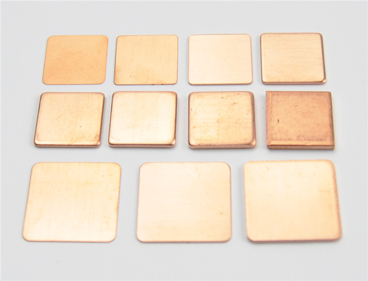10 Pieces Pure Copper Heatsink Shim 6