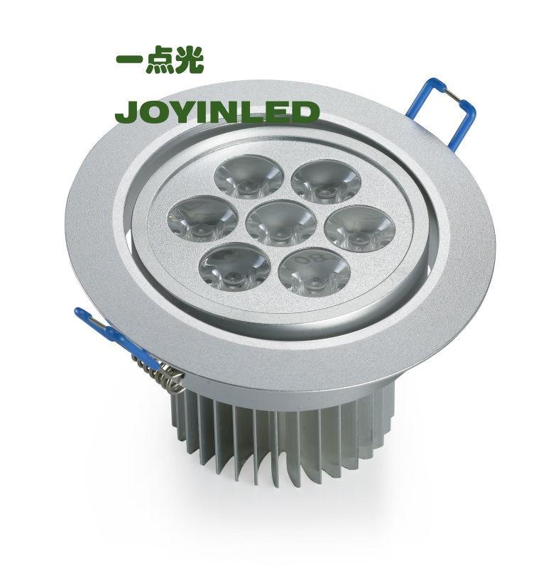 Круг 3W 5W 7W вел вниз света утопленные потолочные светильники 110v 220v белая раковина / случай для домашнего освещения