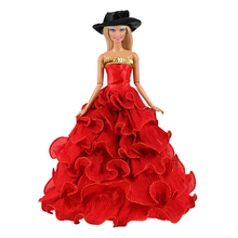 Long Tail Evening Party Dress Our Generation Doll Clothes Multi For Barbie Doll Clothes And Accessories 1/6 Making Wedding Dress new arrvial doll s quality evening fishtail princess wedding eveningl dress for barbie doll
