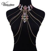Vodeshanlien Новое богемное летнее сексуальное колье винтажное эффектное ожерелье Макси ювелирные изделия длинные цепочки, ожерелья для женщин J