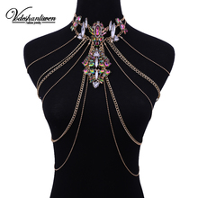 Vodeshanlien New Bohemian Summer Sexy Choker Vintage Statement Necklace Maxi Jewelry Long Chains Necklaces For Women J