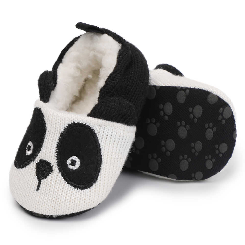 11975da71f96 ... MouseS Panda Animal Pattern Kids Home Slippers Children For Girls Boy House  Indoor Shoes Warm Winter Bedroom ...