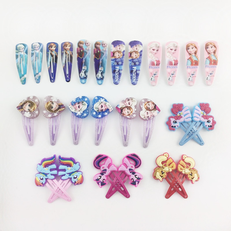 2pcs/lot Cartoon My Little Ponys Hair Clip for Women Childres