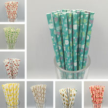 Creative Drinking Paper Straws Birthday Party Decorations Kids Children Birthday Baby Shower Boy Girl Princess Party Supplies(China)