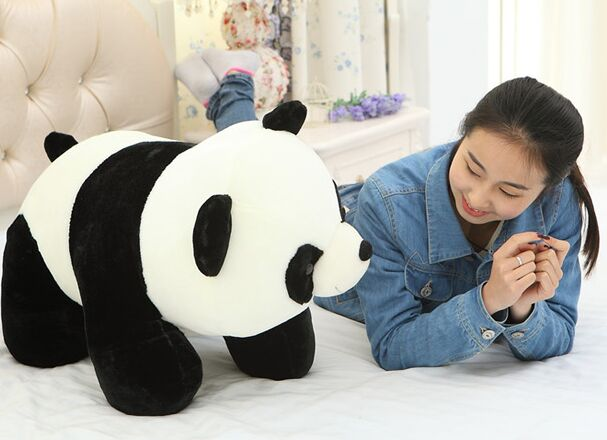 free shipping , huge 70cm panda prone panda plush toy hugging pillow  , Birthday gift t1335 lovely giant panda about 70cm plush toy t shirt dress panda doll soft throw pillow christmas birthday gift x023