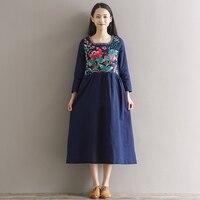Frauen Kleider Frauen Kleidung Stickerei Grün Blau weiß Rot Grün Kleid Sommer Casual Vintage Kleid Vestido Größe M-2XL