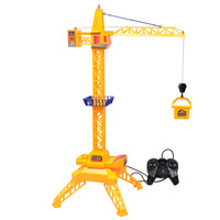 Rc Crane 2.4G Remote Control Simulation Sound Effect 6 Channel Toy with Music Tower Crane Engineering Vehicle Gift For Children