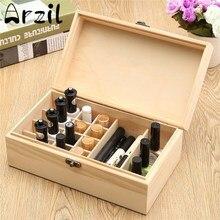 Holz Ätherische Öle Aufbewahrungsbox Organisation 18 Löcher Aromatherapie Natürliche Kiefernholz Handgefertigten Ohne Farbe