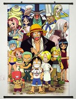 Home Decor Anime One Piece Wall Scroll Poster Fabric Painting 123