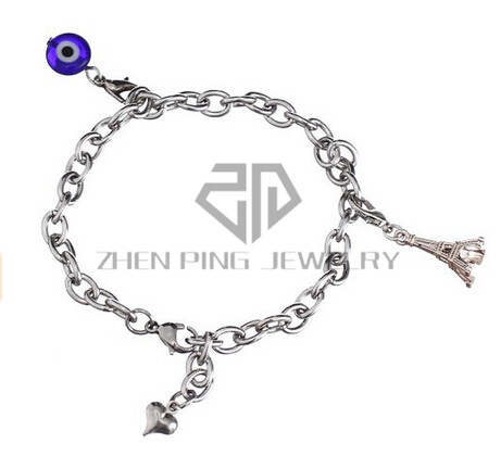 2326daa40 Simple Stainless Steel O Chain Charm Bracelet With Lobster Clasp Gift for  Women or Teen Girls-in Chain & Link Bracelets from Jewelry & Accessories on  ...