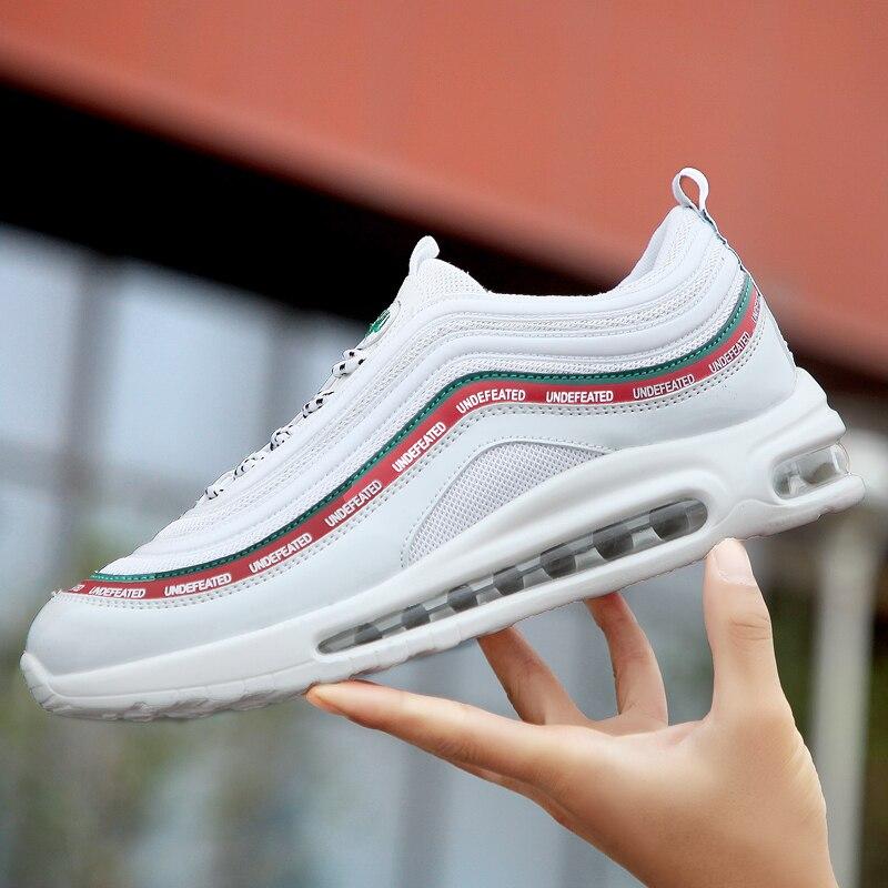 2019 nouveaux amoureux chaussures de course pour hommes haute qualité Air coussin semelle baskets femmes Noctilucent chaussures de sport 98 unisexe Jogging 97