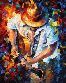 Painting for sale Colorful oil paintings Canvas guitar and soul Modern Wall Art Home Decor High quality Handpainted