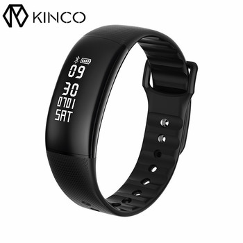OLED 0.87inch Heart Rate Monitor Health Parameters Sync Sports Data Alarm Calls/SMS Reminder Smart Wristband for IOS/Android