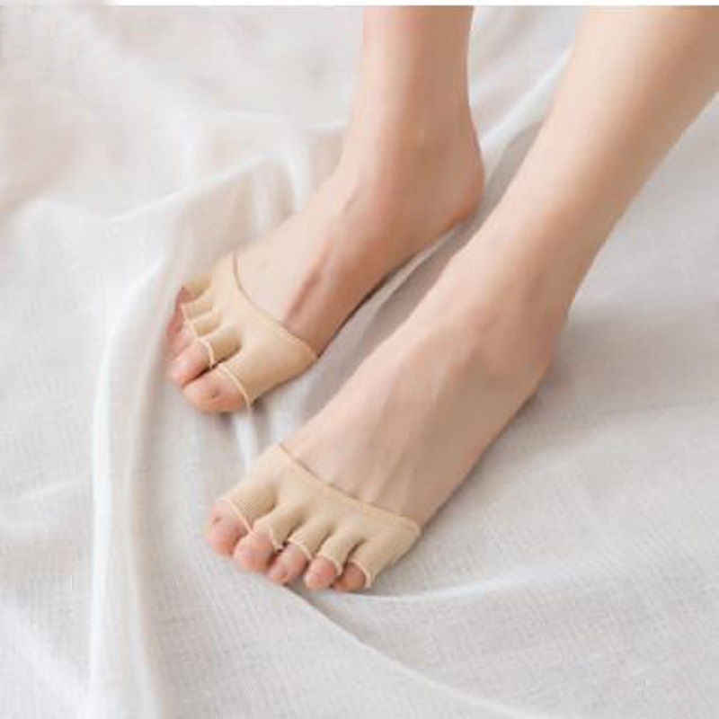 Women's summer half-foot five-finger socks Cotton women's toe socks Invisible toe socks