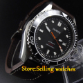 Parnis New 45mm  black dial Ceramic Bezel Automatic Movement Men's Watch