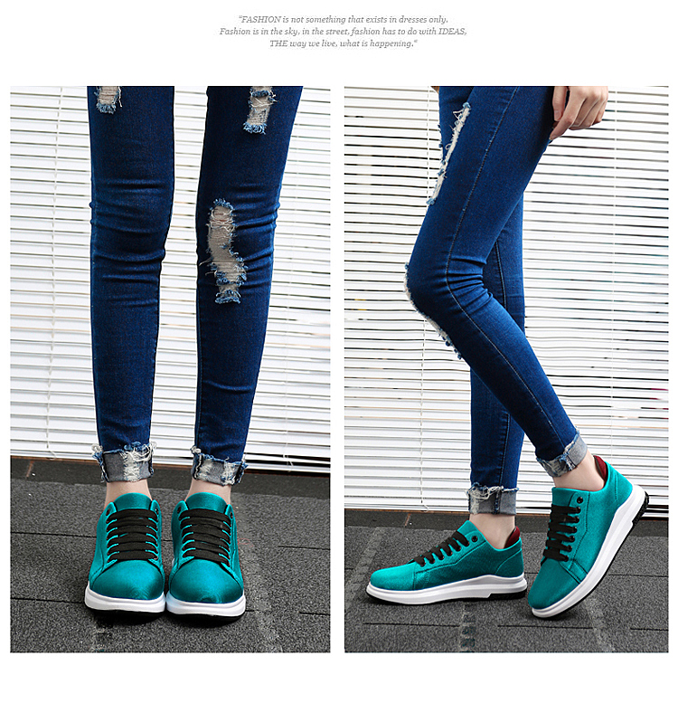 Stretch Fabric Casual Shoes Woman 2017 Fashion Spring Lace Up Ladies Shoes Breathable Women\'s Vulcanize Shoes Superstars ZD68 (17)