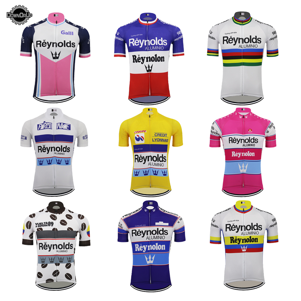 REYNOLDS Men Cycling Jersey Short Sleeved All Colour Styles Racing Bicycle Clothes Top Quality Cycling Clothing MTB Customized