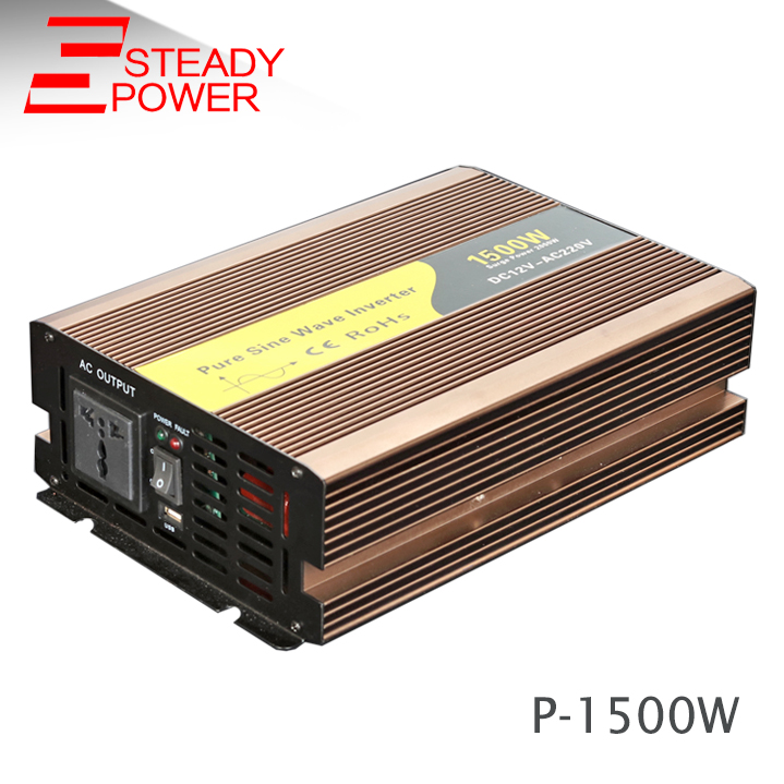 цена на good quality single phase invertor 1500w 24volt 12v dc to 220 volt ac pure sine wave inverter