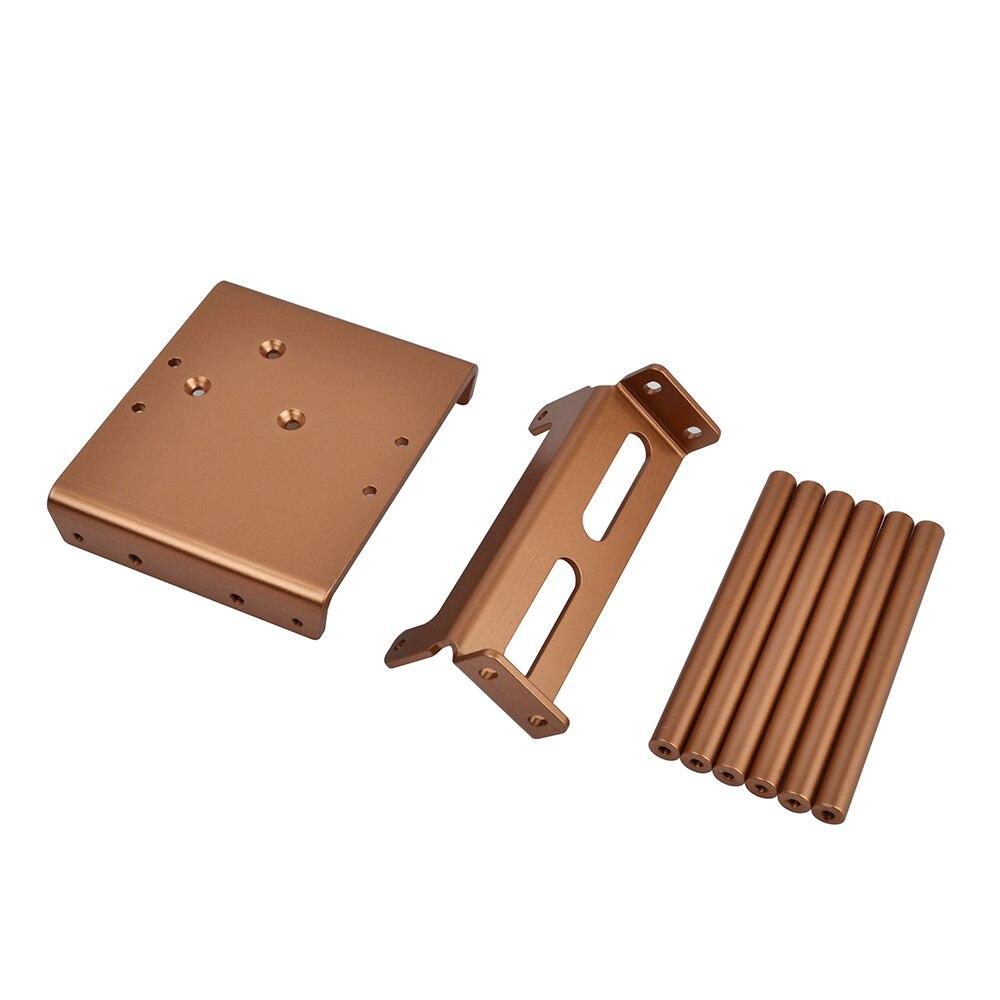 Amortiguadores de aleación de aluminio RC 1/10 con Kit de chasis para TAMIYA clodbumper/Bullhead 4*4 6*6 - 4