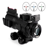 Hunting Red Dot Sight Riflescope 4 X 32 Compact Riflescope Fiber Sight For 20MM Rail Airsoftsports