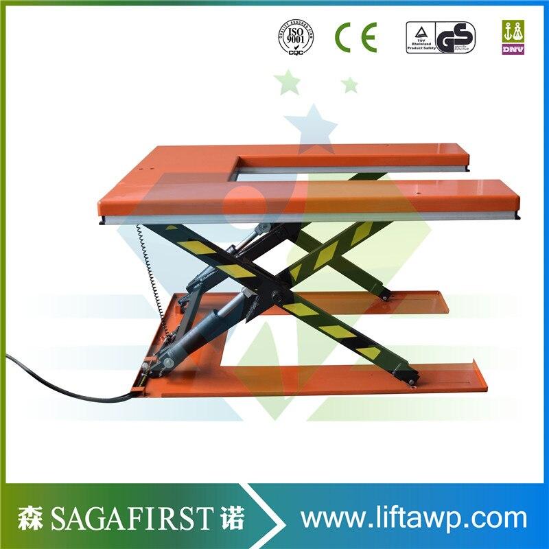 Электрический U образный ножничный подъемный стол
